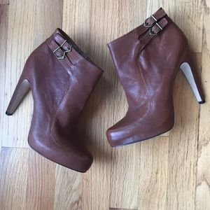 Sam Edelman Brown Leather Booties. 8.5. Fabulous!